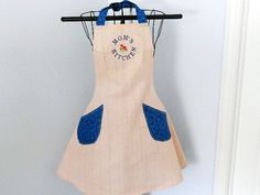 Apron Embroidered Mom's Kitchen Full Apron by MariesClassicHome