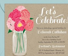 The perfect invite for a summer bridal shower!