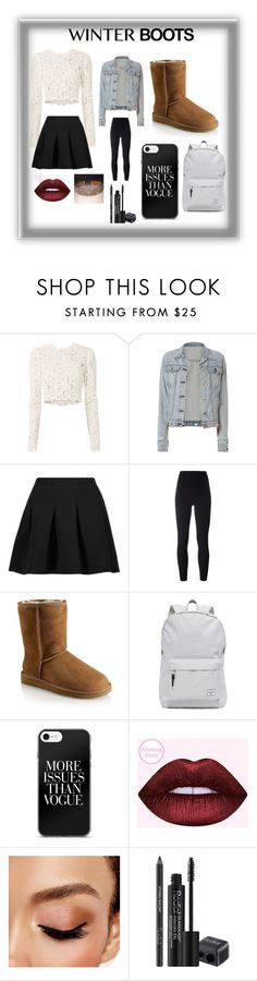 """Winter Boots~School Style"" by livibug-0404 ❤ liked on Polyvore featuring A.L.C., rag & bone, T By Alexander Wang, adidas Originals, UGG, Herschel Supply Co., Avon and Rodial"