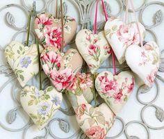 corazones de tela