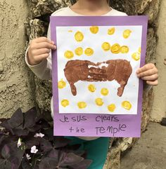 Holy Week in handprints-Little School of Smith's Holy Week Activities, Easter Activities For Kids, Easter Crafts For Kids, Toddler Crafts, Preschool Crafts, Easter Ideas, Holy Monday, Jesus Cleanses The Temple