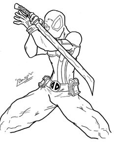 Coloring Pages of Deadpool