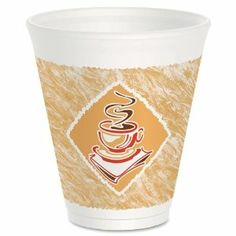Dart Cafe G Design Cup - 12oz - 1000 / Carton - Foam - White, Red, Brown by Dart Products. $64.99. Dart Cafe G Design Cup - 12oz - 1000 / Carton - Foam - White, Red, Brown Foam cups eliminate the need for double-cupping to avoid burning your fingers. Keep hot beverages hot and cold beverages cold while remaining comfortable to the touch. Premium line of insulated Thermo-Glaze cups keeps beverages fresher longer with an upscale look of a cafe design. Packaged Quanti...