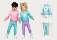 jogger set   casteru on Patreon Sims Baby, Sims 4 Toddler, Sims 4 Cc Kids Clothing, Sims 4 Mods Clothes, Sims 4 Mac, Sims Cc, Toddler Girl Outfits, Kids Outfits, Maxis