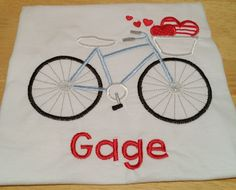 I edited the Valentine bike to fit a boy's taste. I loved how this shirt turned out!!!