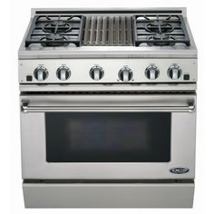 gas range stoves with grill | DCS Ranges 36-Inch Natural Gas Range With Grill By Fisher Paykel - RGT ...