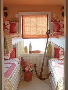 Guest bunk room at the beach.