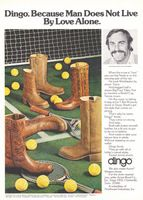Dingo Boots John Newcombe 1976 Ad Picture