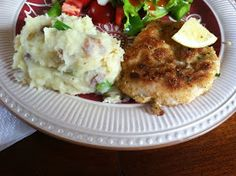 """Point-less"" Meals: Chicken Schnitzel with Mustard Mashed Potatoes"