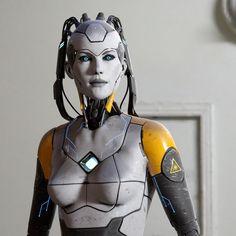 ArtStation - Cyborg Female, Michael Weisheim Beresin
