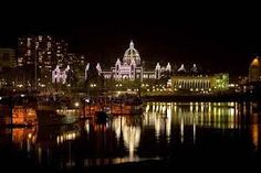 Victoria BC parliament buildings at night Pacific Coast, British Columbia, Places Ive Been, New York Skyline, Things To Do, Cruise, To Go, Canada, Buildings
