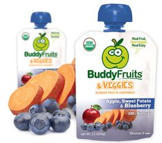 Great snack on the go.  Only made from organic fruits and vegetables.  100% natural 0% anything else. www.buddyfruits.com