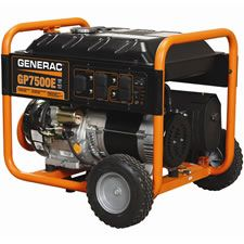 We like the Generac 7500 watt portable generator for four reasons.    1. Electric Start  Generators are often hard to start with a recoil rope. This Generac generator comes conveniently equipped with an electric start button and a battery. Simply press the button, and it starts.    2. It's Affordable    3. Low Tone Muffler  This feature reduces the noise level. If you have ever been near a portable generator while it's running, it can be very loud.    4. Large fuel tank for long run times