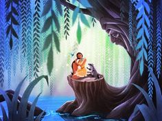 """My Pocahontas piece,""""In the Shade of Grandmother Willow"""", will be available starting tomorrow (Nov 15th) at Disney WonderGround Gallery and I will be at the gallery for the art release and signing from 11a-1p. Please stop by if you are in the area For more info, please visit: http://disneyparksmerchandise.com/events/artist-showcase-with-jasmine-becket-griffith-jeff-granito-sydney-hanson-and-jerrod-maruyama/?instance_id"""
