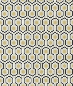 Cole and Son behang Hicks Hexagon toont een kleinschalige geometrische zeshoek