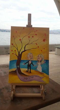 Düğün wedding karakter çizimleri drawing