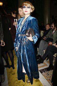 Catherine Baba - Roberto Cavalli Fall 2016 Fashion Show Front Row - February 24, 2016