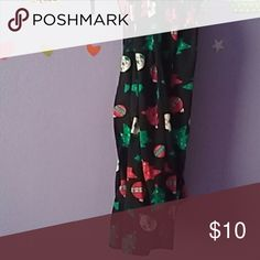 Christmas legging These legging has trees and light bulbs on  them. No Boundaries Pants Leggings
