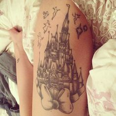 peter pan inspired tattoo, pretty cute for the thigh