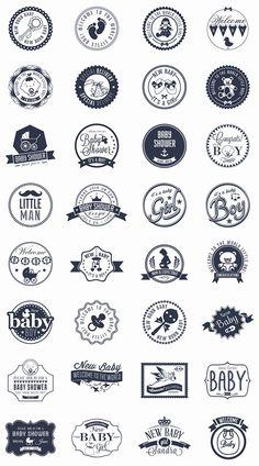 grafiker.de - Baby Mega Pack: 32 kostenlose Vektor-Badges