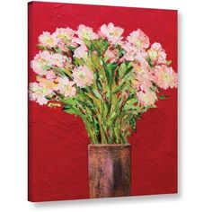ArtWall Allan Friedlander Sparkling Gallery-wrapped Canvas, Size: 36 x 48, Pink