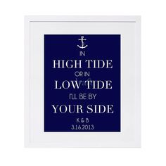 CUSTOM High Tide or Low Tide Anchor Print by ShorelyChic on Etsy, $28.00