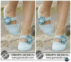 Crochet Simple Steps Flower Straps Slippers Free Pattern - Crochet Women Slippers Free Patterns