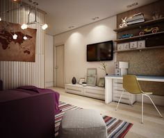 http://boomzer.com/vivid-kids-areas-with-opulence-of-playful-model/light-wood-floor-creative-bedroom-design-masha-gluzdakova-colored-hammock-sunny-read-nook-light-wood-floor-violet-velvet-sofa-bulb-lamp-board-desk-white-sofa-cube-wooden-paneling-large-glass-window-bi/