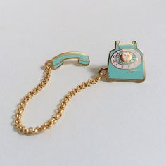 Also available in delicious Pinkberry. This vintage-style phone double lapel pin makes the most charming accessory! Wear on your jacket sweater shirt collar tote bag or anywhere that needs some ex Mochila Kanken, Kanken Backpack, Jacket Pins, Vintage Telephone, Telephone Call, Kawaii, Cool Pins, Pin And Patches, Disney Pins