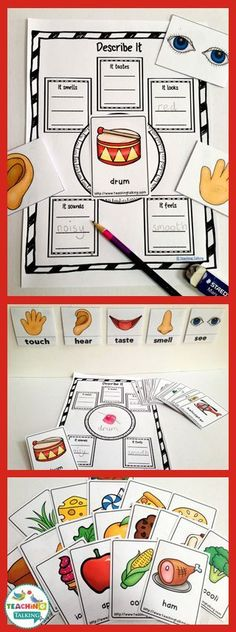 Try these fun vocabulary activities for kids! Teach the five senses.
