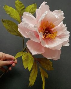 I think I creep closer, yet the form seems farther away! Thank you for sharing your beautiful images 🙏❤ Crepe Paper Flowers Tutorial, Crepe Paper Roses, Paper Flowers Craft, Large Paper Flowers, Giant Paper Flowers, Flower Crafts, Diy Flowers, Fabric Flowers, Beautiful Flowers