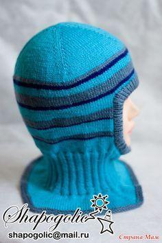Шапка-шлем спицами - <u>мальчику</u> Вязание - Страна Мам