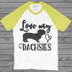 Love my dachsies SVG, dog lovers SVG, Dachshund SVG, Weiner Dog svg file, svg for Cricut, vinyl template, dog lover svg, instant download by pixelphoenixdesigns on Etsy