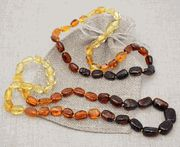 Matching Mommy & Me Amber Necklaces-rainbow beans - for teething!