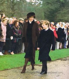 Princess Diana and Prince William the last Christmas she spent at Sandringham with the Royal Family.