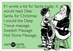 What kind did you ask for? Christmas massage www.acupunctureconnections.com #AcupunctureConnections