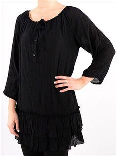 NEW Gauze Peasant Vintage Boho Casual comfy 1X & 2X Plus Size Top Blouse Tunic