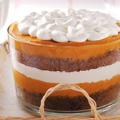 Pumpkin Gingerbread Trifle | from @Erin Kim-Dixie 'Holiday Recipes'  I love this but I use whole gingersnaps in the gingerbread layer