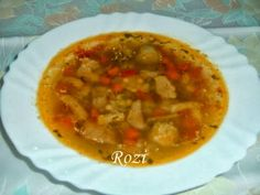 Rozi erdélyi,székely konyhája: Erdélyi csorba Thai Red Curry, Favorite Recipes, Meals, Cooking, Ethnic Recipes, Cook Books, Soups, Baking Center, Chowders