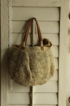 crochet bag with a really cool inner lining to stop things from falling out