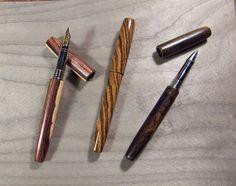 Stylo plume en bois, ou roller, à taille fine : Matériel pour écriture par rue-du-stylo