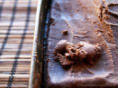Gelado de Chocolate e Mascarpone com Manteiga de Amendoim