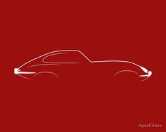 Jaguar E Type Brushstroke Design Car Silhouette, Car Prints, Best Classic Cars, Car Illustration, Jaguar E Type, Car Wallpapers, Automotive Design, New Tricks, Brush Strokes