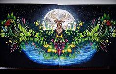 Deer enchanted forest