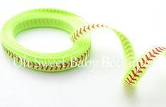 3/8 Softball Ribbon-