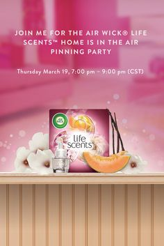 Join the Air Wick® Life Scents™ Pinning Party For your chance to win $500 Towards designing your perfect room Thursday March 19, 7:00pm - 9:00pm (CST) [http://contests.tailwindapp.com/airwick/life-scents-pinning-party]