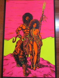 1960s 70s Houston Blacklight Poster Rulers II Black Power | eBay