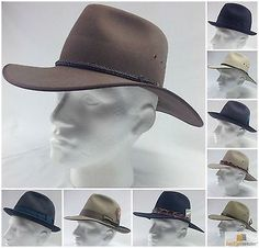 Akubra hat 100% #authentic fur felt cap made in #australia sizes #53cm-61cm new,  View more on the LINK: 	http://www.zeppy.io/product/gb/2/151269015208/