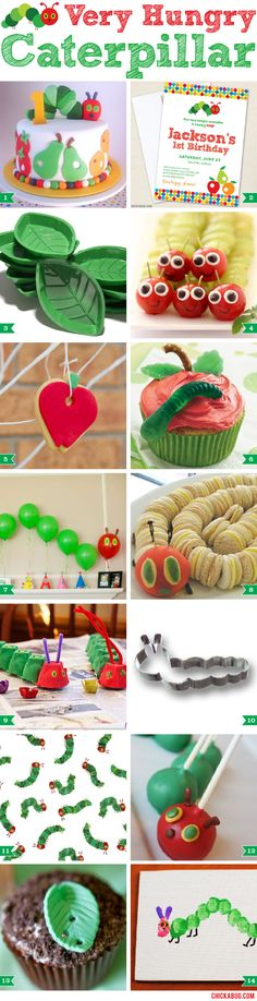 Adorable ideas for a Very Hungry Caterpillar party!