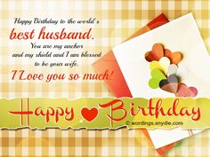 Birthday Wishes for Husband: Husband Birthday Messages and Greetings Wordings…